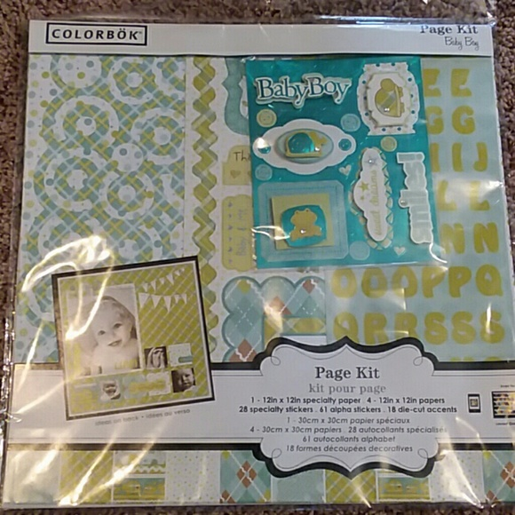 Colorbok Accessories Scrapbook Page Kit For Baby Boy Poshmark